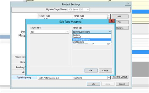 sql server migration assistant for access date data type stack overflow