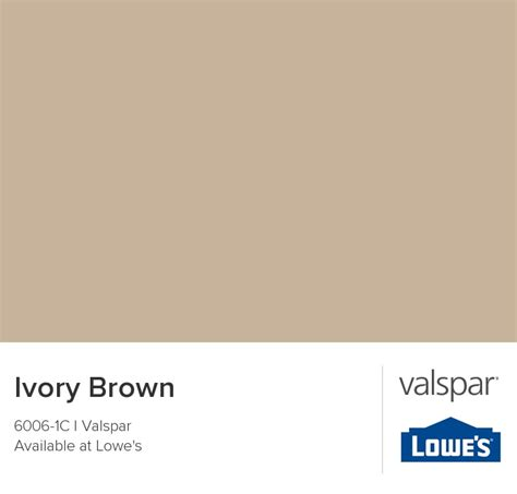 ivory brown from valspar for the home