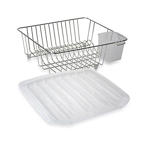 dish rack bed bath and beyond chrome small dish drainer bed bath beyond