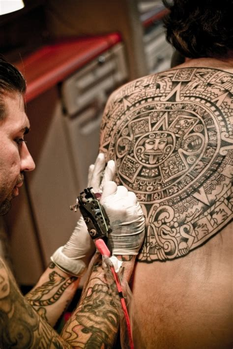 large tattoo process big back mandala tattoo in process tattoomagz