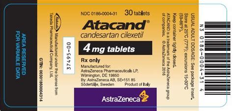 Candesartan Cilexetil 8 Mg 30 S atacand fda prescribing information side effects and uses