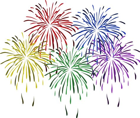 new year flower png fireworks clipart transparent www imgkid the image