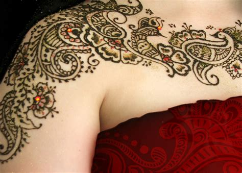 shoulder henna tattoos henna tattoos