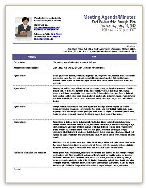 Meeting Minutes Template Cyberuse Professional Meeting Minutes Template