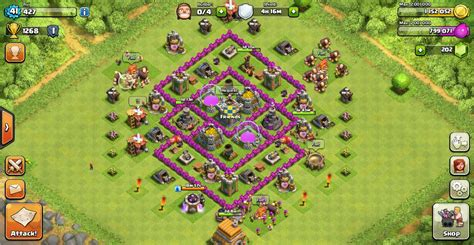 layout coc farming th6 clash of clans th6 base defense car interior design