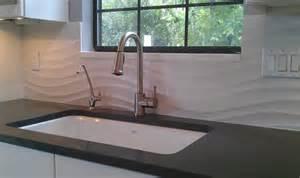 Glass Brick Backsplash by Kitchen Backsplash Wave Panel Tile Contemporary