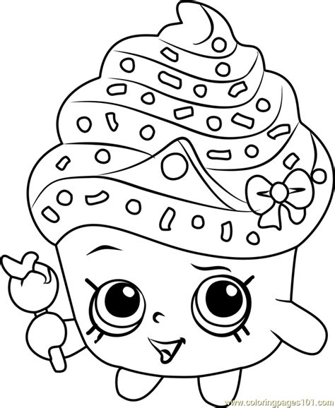 shopkins coloring pages cupcake queen cupcake queen shopkins coloring page free shopkins