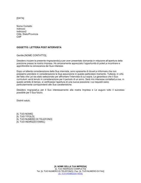 lettere di assunzione modelli lettera rifiuto a candidato assunzione modelli e esempi
