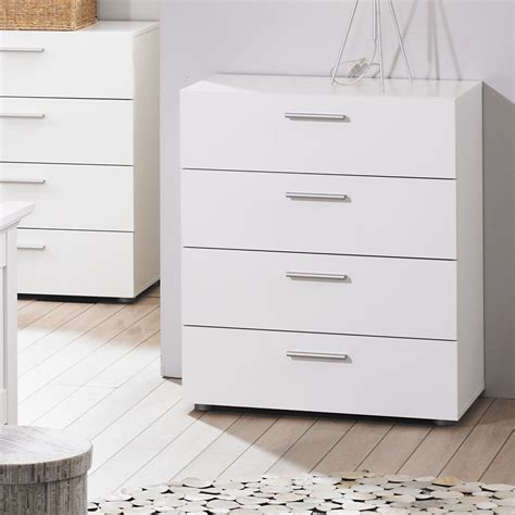 White Bedroom Chest | white large bedroom dresser storage drawer modern 4 wood