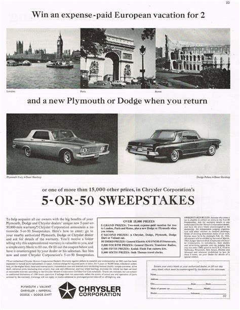 Chrysler Sweepstakes by Chrysler Corporation Sweepstakes Photo Picture