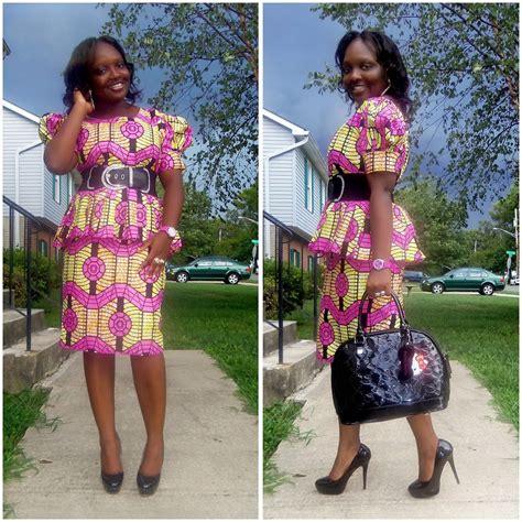 Short skirt and ankara blouse newhairstylesformen2014 com
