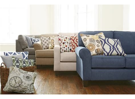 pitkin sectional and pillows by furniture smith