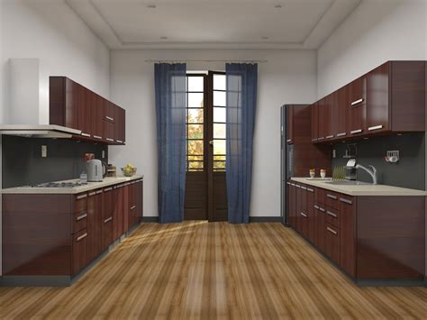 parallel kitchen ideas almond kitchens