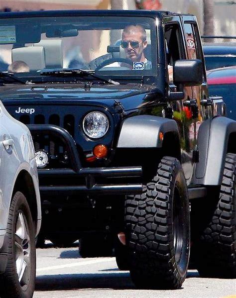 David Beckham Jeep David Beckham S Black High Rise Jeep Wrangler