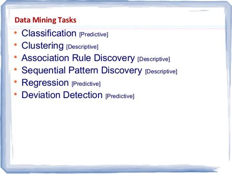 pattern classification task its all about data mining