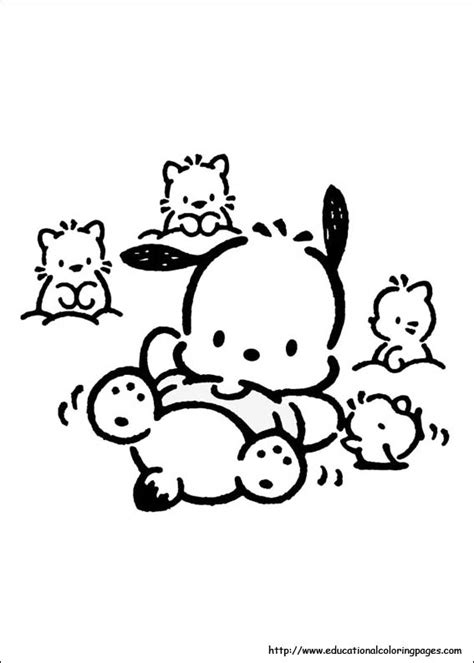 pochacco coloring pages educational fun kids coloring