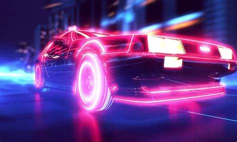 80s porsche wallpaper retro wave synthwave 1980s neon delorean