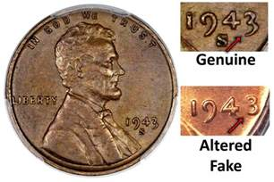 1943 copper penny spotting a fake