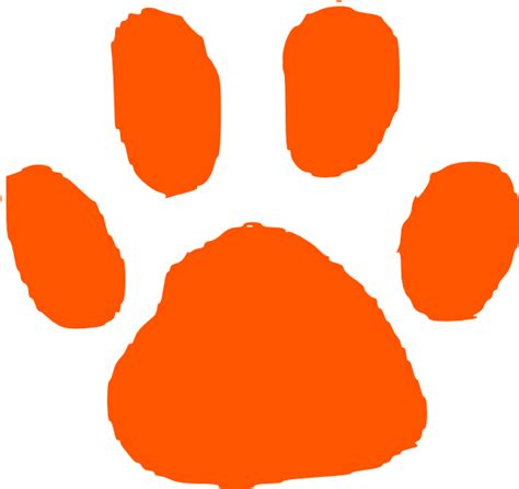 paw clipart orange paw print clip at clker vector clip royalty free