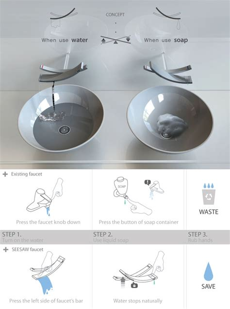 reduce moisture in bathroom seesaw water saving faucet by chanhee han design