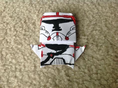 Origami Clone Trooper - the republic clone trooper origami yoda