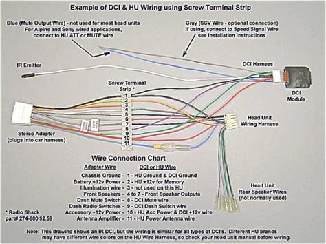 car radio wire harness wiring diagram with ir wiring