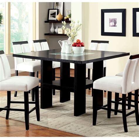 black led table l furniture of america jalen counter height led dining table