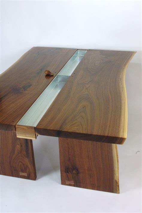 Custom Made Walnut Live Edge Slab Conference Table By Live Edge Conference Table