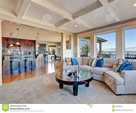 luxury open floor plans luxury house with open floor plan coffered ceiling