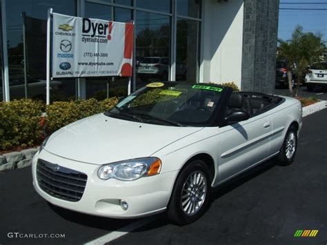 chrysler car white 2004 stone white chrysler sebring lxi convertible