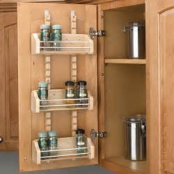Spice Organizers For Kitchen Cabinets by Rev A Shelf Adjustable Door Mount Spice Rack