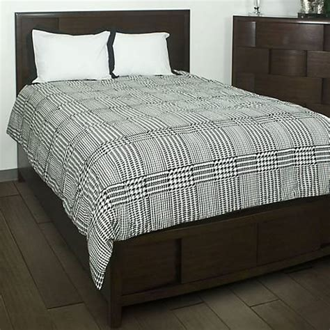 houndstooth comforter bedding set 6m524 ls plus