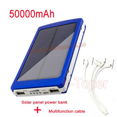 Power Bank Solar Cell Samsung aliexpress buy aliexpress solar power bank large capacity 50000mah solar powerbank