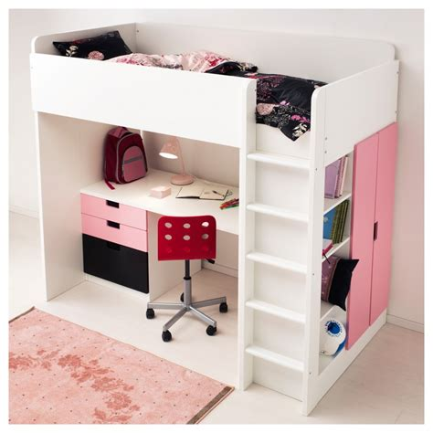 Pink Futon Bunk Bed With Desk by Bedroom Comfortable Loft Bed With Desk For Your Bedroom