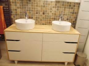 meuble salle de bain vasque bidouilles ikea