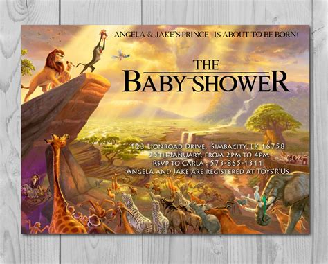 Nala King Baby Shower by King Baby Shower Invitation Jungle Invitation