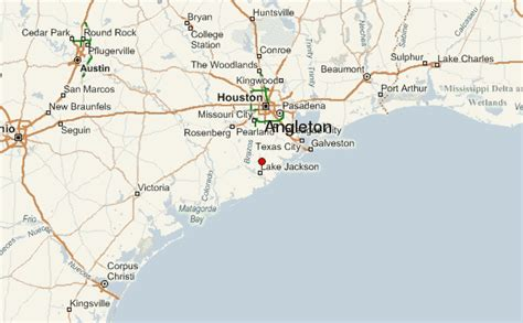 angleton texas map angleton location guide