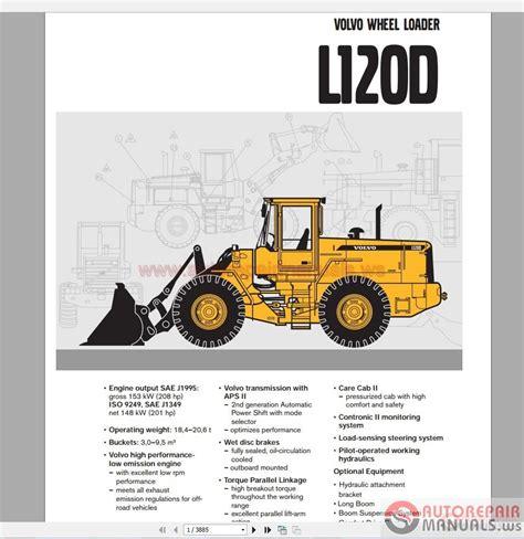 volvo wheel loader l120d service manual auto repair