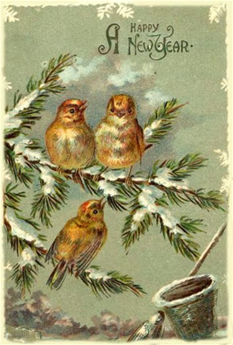 free vintage happy new year greeting cards elves with january money diet day 1 figure your net worth happy