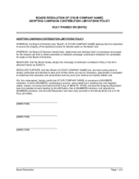 Board Resolution Affirming Non Discrimination Policy Template Sle Form Biztree Com Board Policy Template
