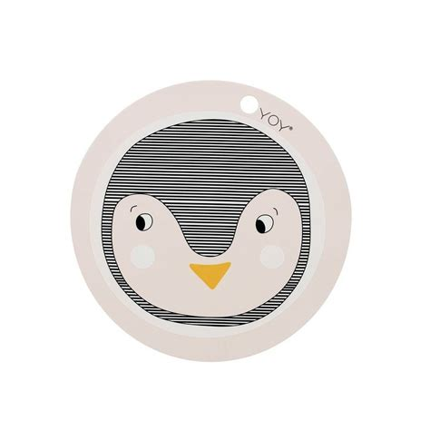 Silicone Plate Placemat Pinguin oyoy placemat penguin pink silicone 39x0 15cm lefliving