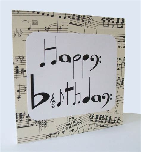 Happy Birthday Card Notes 1000 Images About Music Crafts On Pinterest Music