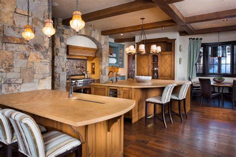 lodge kitchen tour a lodge style mountain home in edwards colo hgtv