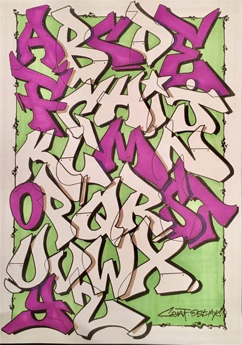 graffiti alphabet  letters  style  bombing science