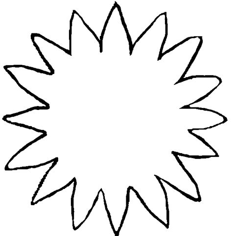sunflower template to cut out www imgkid com the image