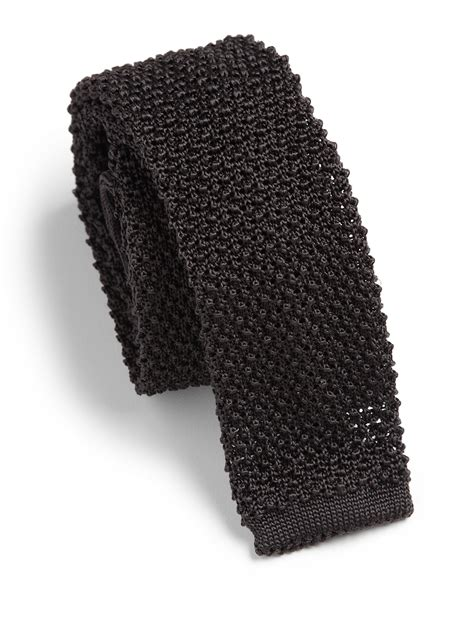 silk knit ties lyst ralph black label silk knit tie in gray for