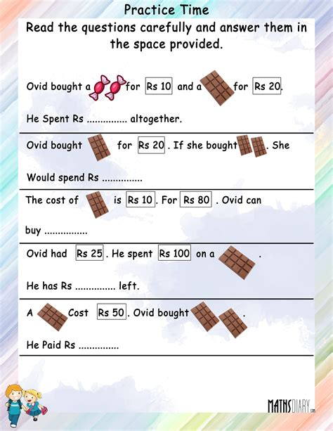 Word Problems Practice Worksheets by Word Problems Grade 2 Math Worksheets