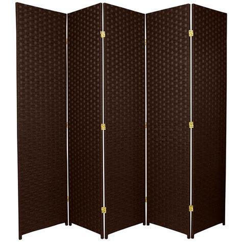 5 panel room divider 6 ft mocha 5 panel room divider ssfiber 5p dmoc the home depot