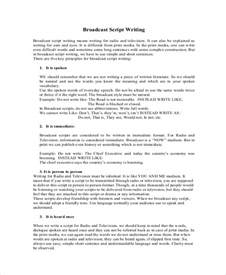 docs script template sle script writing 8 documents in pdf word