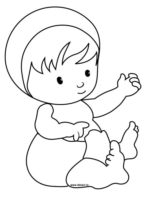 Coloring Baby Newborn Baby Coloring Pages Free